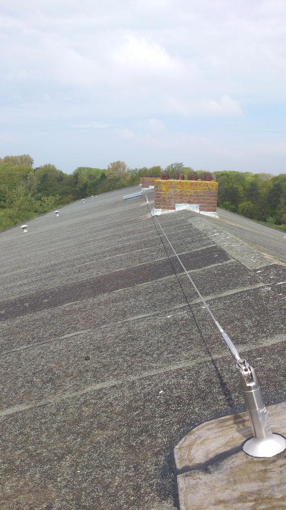 schuin dak met valbeveiliging