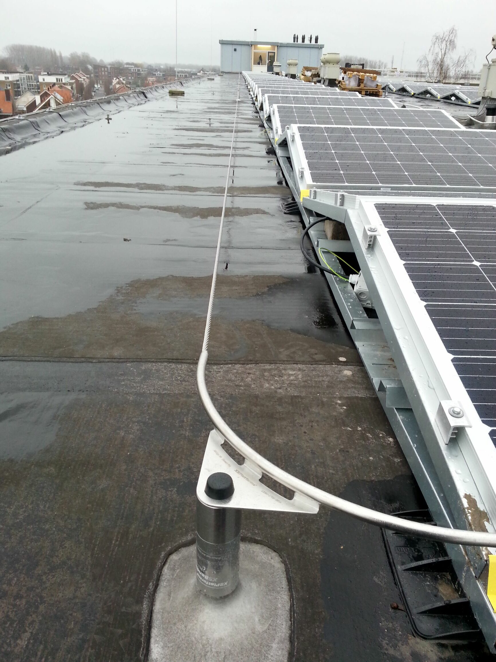 zonnenpanelen valbeveiliging kabelsysteem