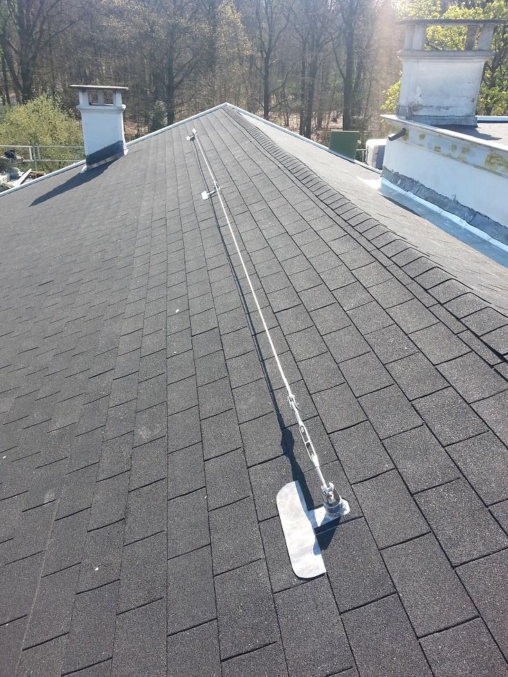 valbeveiliging op monumentaal dak
