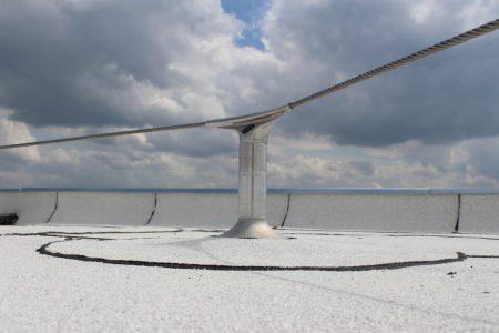 hoekanker valbeveiliging op wit dak